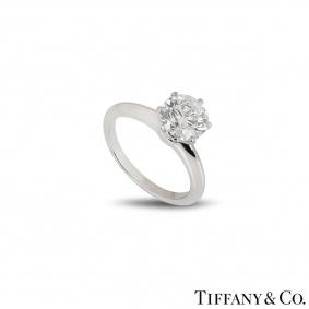Tiffany & Co. Platinum Diamond Setting Ring 1.74ct G/VS1 XXX
